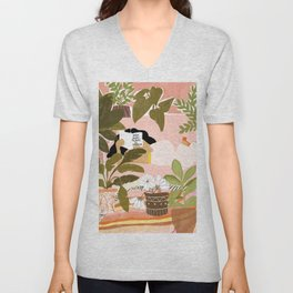 How Many Plants Is Enough Plants? Unisex V-Neck