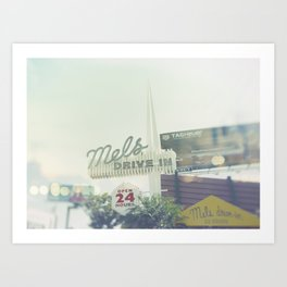 Diner Sunset Blvd Los Angeles California Art Print