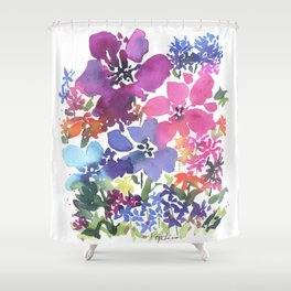 Pretty Poppy Patch Shower Curtain