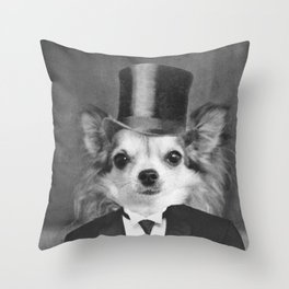 Lola in Top Hat Throw Pillow