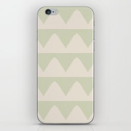 Geometric Pyramid Pattern - Soft Green iPhone Skin