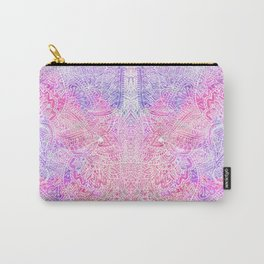 Pink Purple Paisley Love Carry-All Pouch