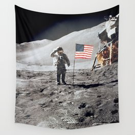 Apollo 15 - Military Salute Wall Tapestry
