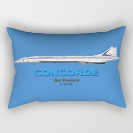 "Concorde - Air France ""Classic Colours"" Rectangular Pillow"