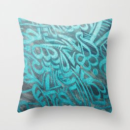 blue Rapping Throw Pillow