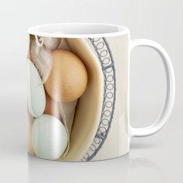 Organic eggs from Easter egger chicken Coffee Mug