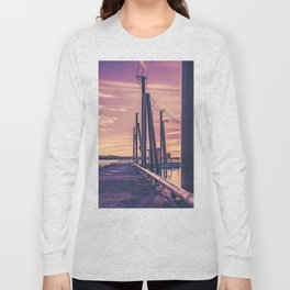 Water Sunset at the Dock Long Sleeve T-shirt