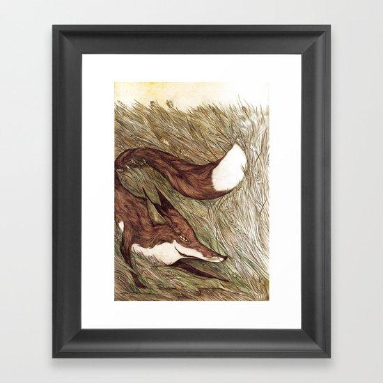 La Ruse du renard (The Sneaky Red Fox) Framed Art Print