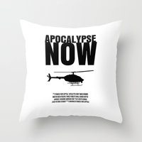 apocalypse now Throw Pillows featuring Apocalypse Now Move Poster by FunnyFaceArt