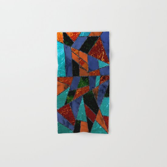 Abstract #447 Lava Flow Hand & Bath Towel