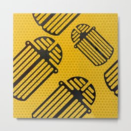 Scarab Pattern Metal Print