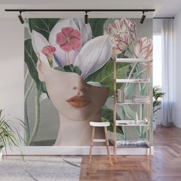 Floral Portrait /collage 2 Wall Mural