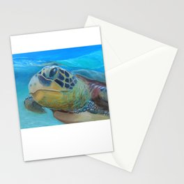 Sea Turtle Cameo Stationery Cards