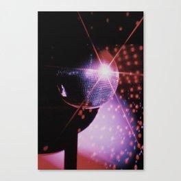 Disco Ball - Neon Canvas Print