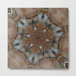 Tee Pee Bird Totem Mandala Kaleidoscope Metal Print