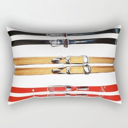 Old School Skis from Crow Creek Cool Rectangular Pillow