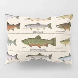 Illustrated Western Game Fish Identification Chart Pillow Sham