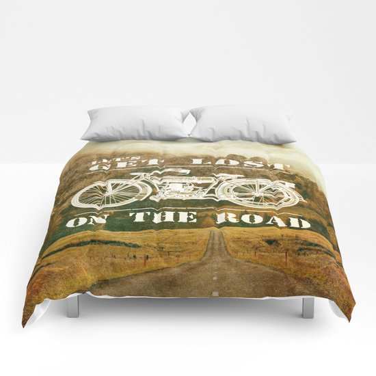 Get Lost On The Road Comforters
