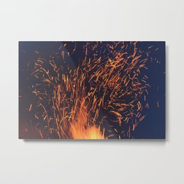 Fire and Sparks Metal Print