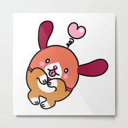 Pinky & choco : I LOVE YOU Metal Print