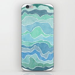 water, ripples and currents iPhone Skin