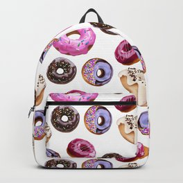 seamless pattern with donuts Backpack