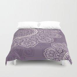 Mandala Tulips in Lavender ad Cream Duvet Cover