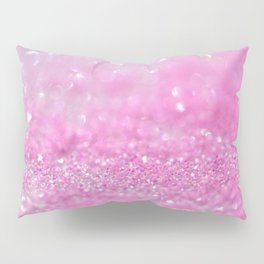 Sparkling Baby Girl Pink Glitter Effect Pillow Sham