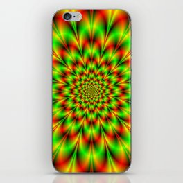 Rosette in Green and Red iPhone Skin