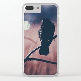 Summer Blackbird Clear iPhone Case