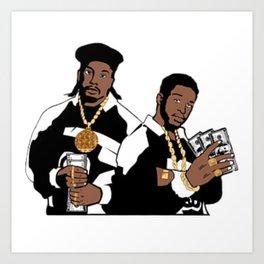 Rap Legends Paid in full Art Print