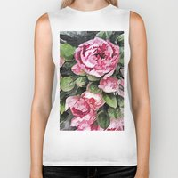 botanical Biker Tanks featuring Botanical Beauty by lillianhibiscus