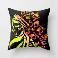 indie Throw Pillows featuring Midnight Indie by trendaholic