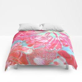 Blue Water Hibiscus Snowfall Comforters