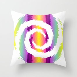 Rainbow Colors Squirl Abstractart Digitalart Pattern Gift Throw Pillow