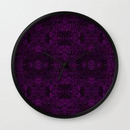 Dark Lace / purple goth Wall Clock