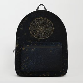 Golden Star Map Backpack