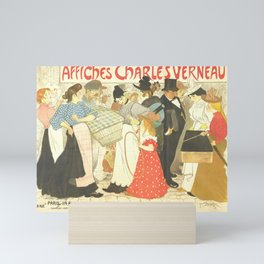 "Théophile Steinlen ""The Street (La rue), poster for the printer Charles Verneau"" Mini Art Print"