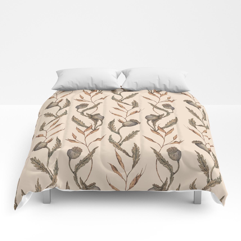 Poppy Pod Pattern Comforters By Jessicaroux Society6