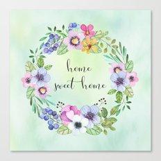 home sweet home-green Canvas Print