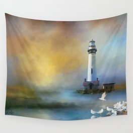 Lighthouse & Seagulls Wall Tapestry