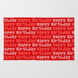 Happy Birthday on Red Rug
