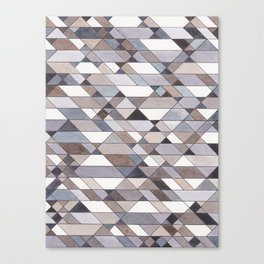 Triangle Pattern no.22 grays Canvas Print