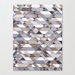 Triangle Pattern no.22 grays Canvas Print