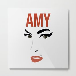 Amy Back to Black Metal Print