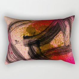 Japanese Style Abstract on Apricot Rectangular Pillow