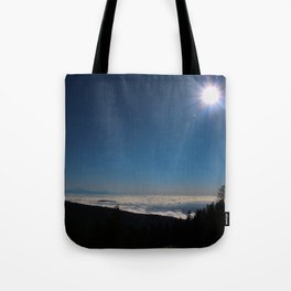 sunshine and cloud cover Tote Bag