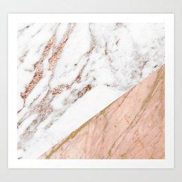 Marble rose gold blended Art Print