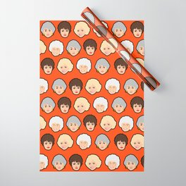 The Golden Girls Orange Pop Art Wrapping Paper
