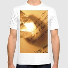 Words number 6 MEDIUM White Mens Fitted Tee